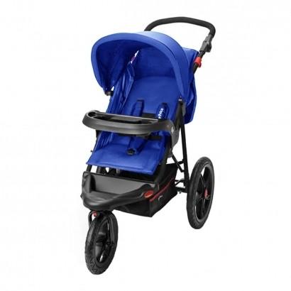 Carrinho de Bebê Passeio 3 Rodas Travel System Reclinável Com Bebê Conforto Fisher Price Expedition Azul