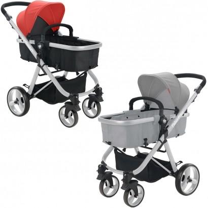 Carrinho de Bebê Passeio Berço Moisés Adapta Bebê Conforto 3 em 1 Reversivel Fisher Price Hero