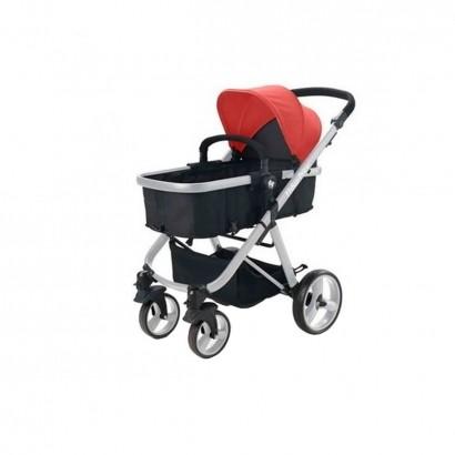 Carrinho de Bebê Passeio Berço Moisés Bebê Conforto 3 em 1 Reversivel Fisher Price Hero Vermelho
