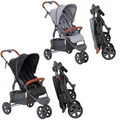 Carrinho de Bebê Passeio Reclinavel 4 Posições Função Berço Recomendo 6 Meses Até 15 Kg Moving Light Woven - Abc Design