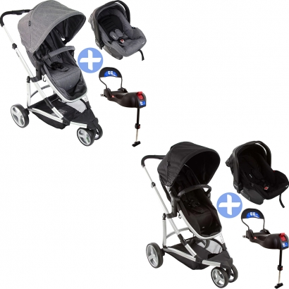 Carrinho de Bebê Travel System Sky Trio com Bebê Conforto e Base - Infanti