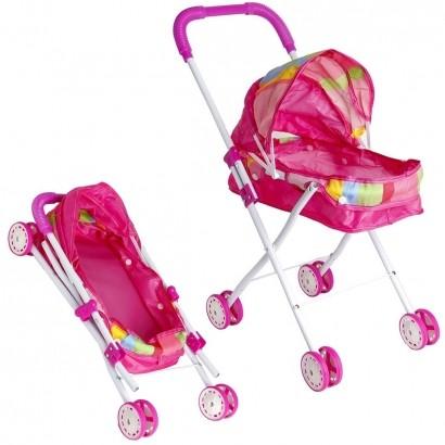 Carrinho de Boneca Dobravel Brinquedo Menina Criança Infantil A Partir de +3 Anos - Brinqway