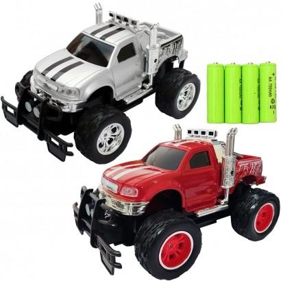 Carrinho De Controle Remoto Brinquedo Criança Infantil Caminhonete Com Pilhas Recarregáveis Importway