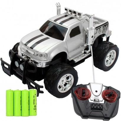 Carrinho De Controle Remoto Brinquedo Criança Infantil Caminhonete Com Pilhas Recarregáveis Preto Importway