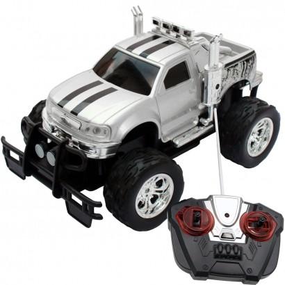 Carrinho De Controle Remoto Brinquedo Criança Infantil Caminhonete Sem Pilhas Recarregáveis Preto Importway