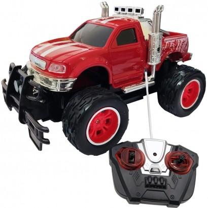Carrinho De Controle Remoto Brinquedo Criança Infantil Caminhonete Sem Pilhas Vermelho Importway