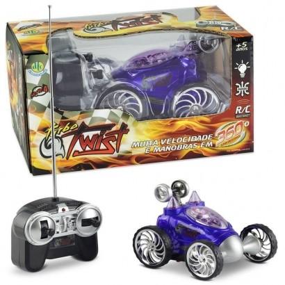 Carrinho de Controle Remoto Turbo Twist Azul 4888 Dtc
