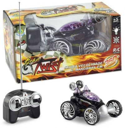 Carrinho de Controle Remoto Turbo Twist Preto 4888 Dtc