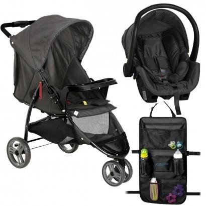 Carrinho de Passeio Bebê Cross Trail + Bebê Conforto Cocoon Galzerano + Organizador