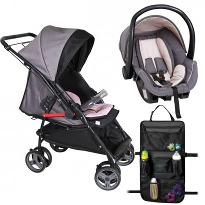Carrinho de Passeio Bebê Maranello com Bebê Conforto Cocoon Galzerano + Brinde