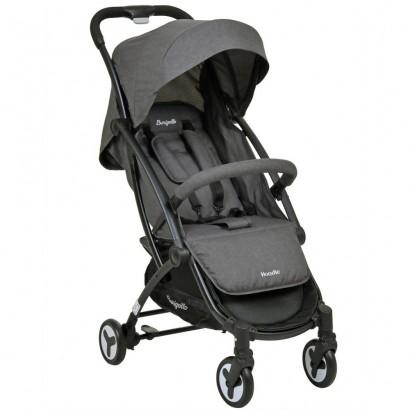 Carrinho de Passeio do Bebê Hoodie Dark Gray De 0 a 15 Kg Burigotto