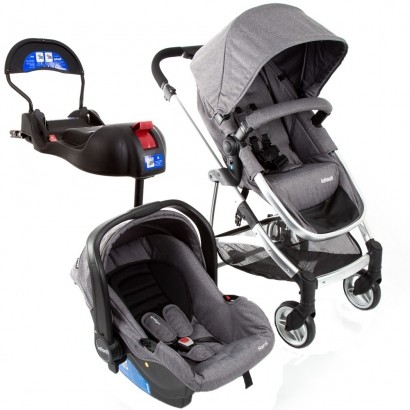 Carrinho De Passeio Infantil Travel System Epic Lite Trio Grey Classic Até 15 Kg - Infanti