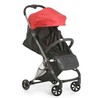 Carrinho Bebê Galzerano Berço Passeio Encosto Regulável Peso 0 até 15 kg Duolee Vermelho