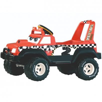 Carrinho Elétrico Jeep Infantil Nevada Pick Up Vermelha 6V +3 Anos Peg Perego