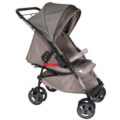 Carrinho Para Bebê Até 15Kg Maranello Caramelo 2 em 1 - Galzerano