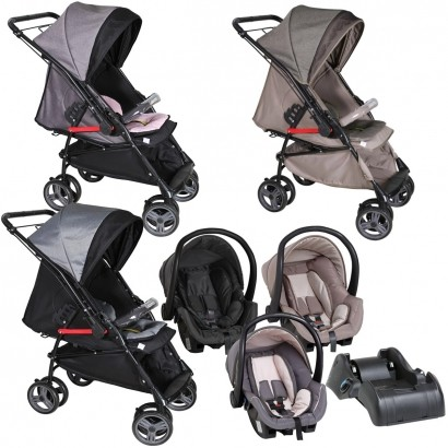 Carrinho Para Bebê Até 15Kg Maranello 2 em 1 + Bebê Conforto + Base Galzerano