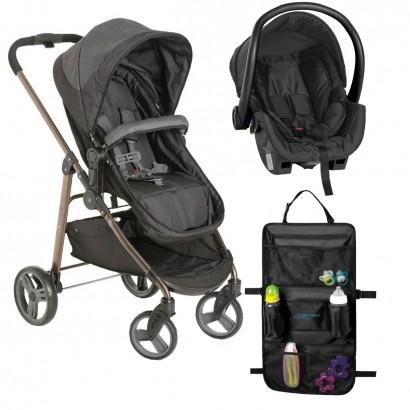 Carrinho Para Bebê Galzerano Olympus + Bebe Conforto Galzerano + Organizador