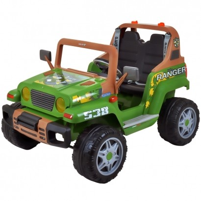 Carro Ranger Infantil Elétrico Criança Mini Veiculo 3 Anos até 60 Kg 12V Verde Peg Perego