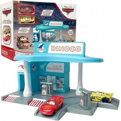 Carros Pixar Posto de Gasolina Relampago Mcqueen e Cruz Disney Toyng