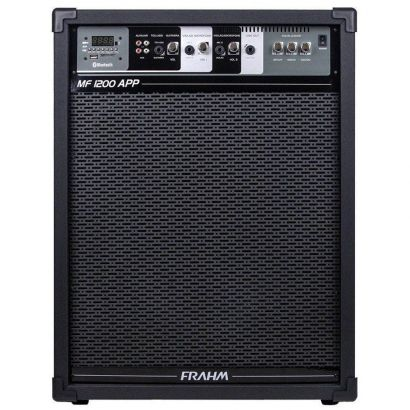 Caxia Amplificada MF1200 APP USB Bluetooth SD FM FRAHM
