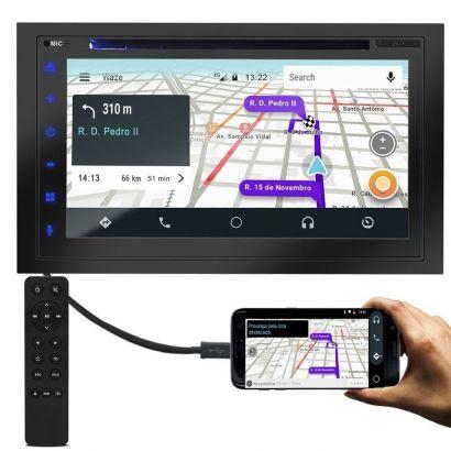 Central Multimidia Dvd Evolve X 6,75 Pol. Gps Mp5 Android E Apple Car Play Gp331