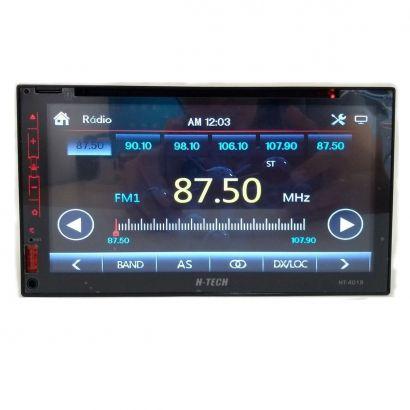 "Central Multimídia Dvd H-Tech HT- 4019 2Din 7"" USB/SD/AUX/BT/EPS, Full Touch"