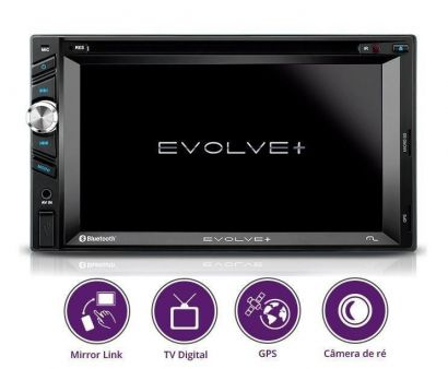 Dvd Multilaser Evolve+ 6,2 Tv Digital Gps Bluetooth Radio usb GP043