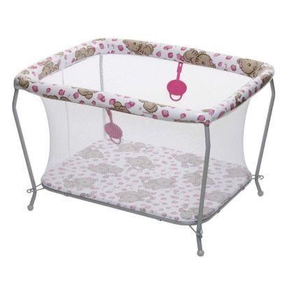 Berço Cercado Com Tela Para Bebê Galzerano Tigrinha Até 13kg 3005TIG