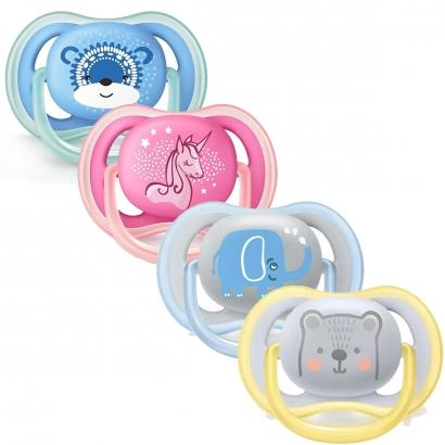 Chupeta Bebê Infantil Ultra Air Desenhos Divertidos 6-18 meses Tamanho 2 Philips Avent