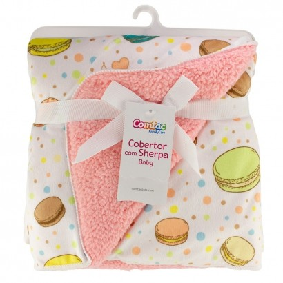 Cobertor Para Bebê Manta Com Sherpa Infantil Macio Macaron