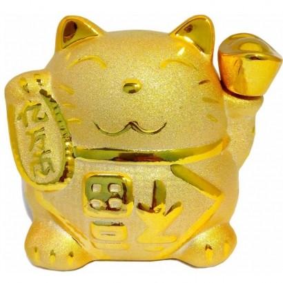 Cofre Gato da Sorte Dourado