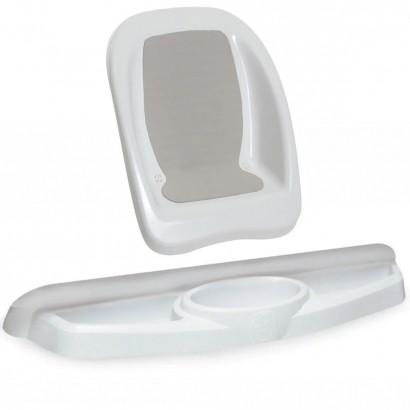 Conjunto Banho do Bebê Redutor de Assento de Banheira + Saboneteira Plástica Galzerano