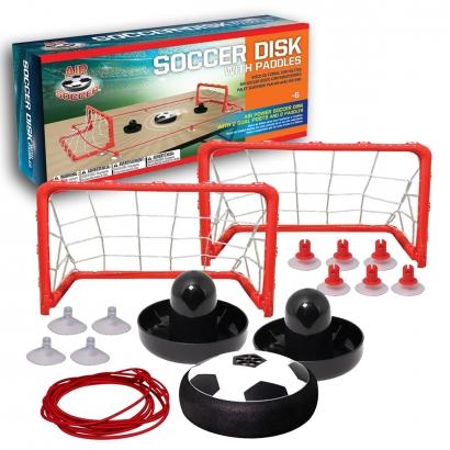 Conjunto de Futebol Aéreo Air Soccer Disco de Futebol com Rebatedores Jogo de Mesa + Traves Maccabi Art +6 anos