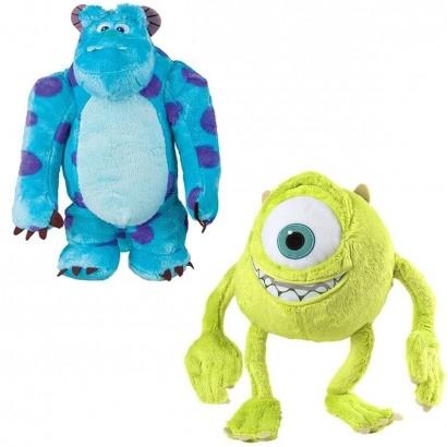Conjunto Pelúcia Infantil Monstros S.A Mike e Sulley 30 cm c/ Som - Multikids