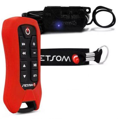 Controle Longa Stetsom Sx2 Light 200 Metros Alcance Control Vermelho