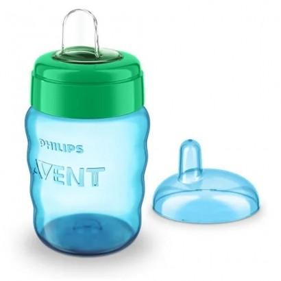 Copo Bebê Easy Sip Com Bico De Silicone 260ml Azul Philips Avent SCF553/05