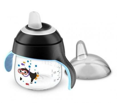 Copo Pinguim 200Ml 6m+ Preto Philips Avent