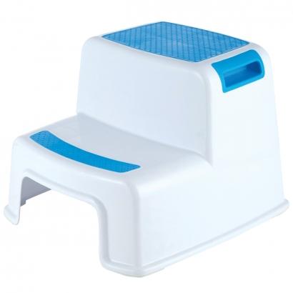 Degrau Escadinha Infantil Bebê Aderente Antiderrapante Para Banheiro New Style Kababy Azul