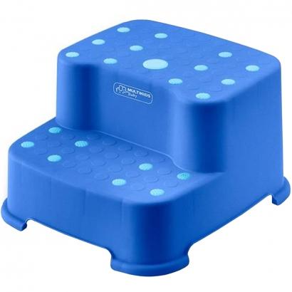 Escadinha Infantil Criança 2 Degraus Antiderrapante BB1004 Multikids Baby Azul
