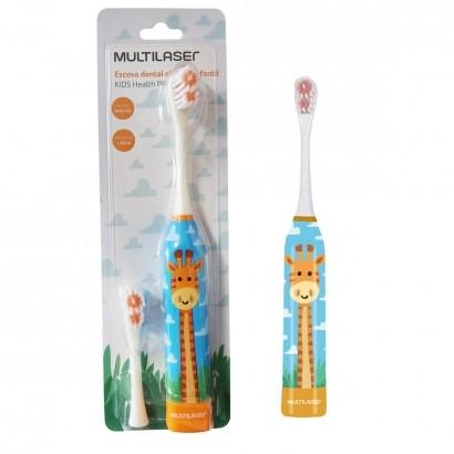 Escova Dental Infantil Elétrica Girafa Kids Healt Pro Multilaser