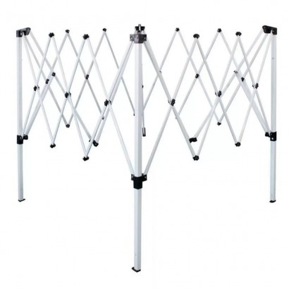 Estrutura De Alumínio Para Tenda Gazebo Articulado 3,00 x 3,00 Metros