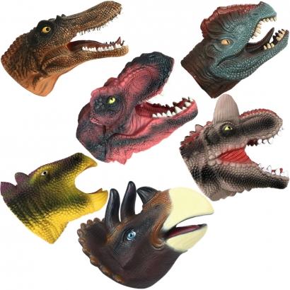 Fantoche de Mão Infantil Cabeça de Dinossauro Vários Modelos Para Crianças +3 Anos - Toyng