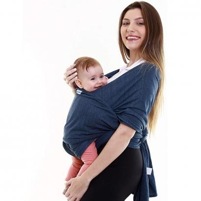 Canguru Bebê Infantil 3,5Kg a 16Kg Segurança Wrap Sling Kababy Jeans