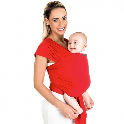 Canguru Bebê Infantil 3,5Kg a 16Kg Segurança Wrap Sling Kababy Vermelho
