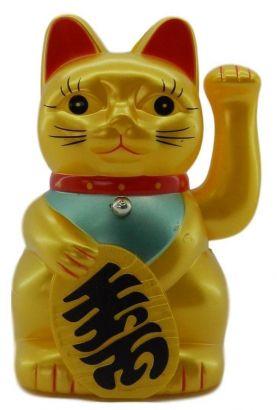 Gato Da Sorte Dourado Plastico (MANEKI NEKO)
