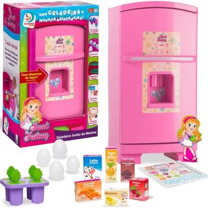 Geladeira Brinquedo Criança Infantil Sonho de Menina Sweet Fantasy Cardoso Toys