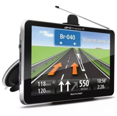 Navegador Gps Automotivo 7 Tv Digital Tracker Multilaser Lcd GP038