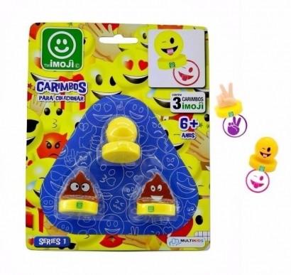 Imoji Figuras Com Carimbo 3 Peças Multikids BR515