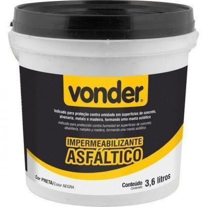 Impermeabilizante Contra Umidade Concreto Metal Madeira 3,6l Vonder