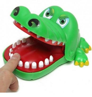 Jogo Brinquedo Criança Crocodilo Dentista Cuidado Com o Dente Dolorido  - Polibrinq